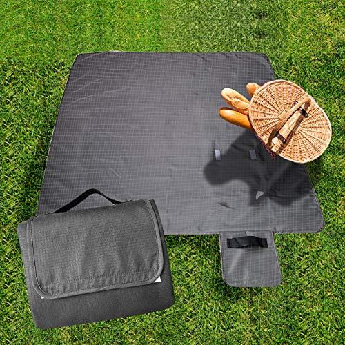 Fleece Polar Picnic Blanket - Yanchuan Picnic Blankets.Waterproof Outdoor Blanket Warm Polar Fleece for Travel,Camping,Hiking(55〞×59〞)