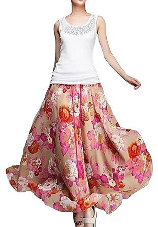7a76ef9fc7e4 Tropical Hawaiian Cocktail Evening Dress Sea Maxi Long Party Skirt at  Amazon Women s Clothing store