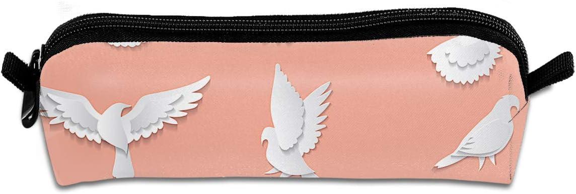 Dove Or Paloma Peace Symbols - Estuche para lápices con Cremallera, Bolsa pequeña para cosméticos y Maquillaje, Monedero para niños, Adolescentes y Otros Suministros Escolares: Amazon.es: Hogar