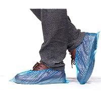 Vanker 100 unidades desechables de plástico azul impermeable