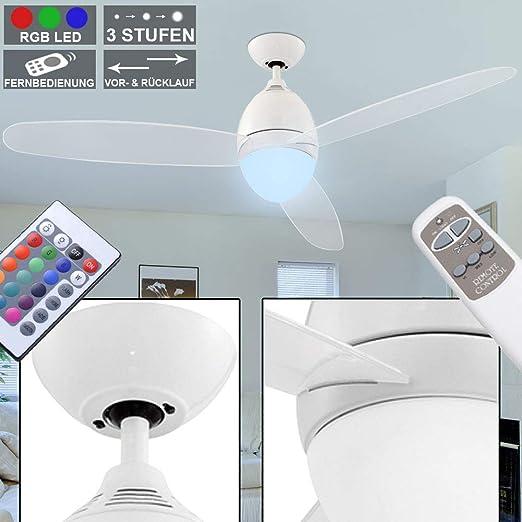 Rgb led ventilateur plafond variateur luminaire comm ventilateur lampe refroidisseur lumière
