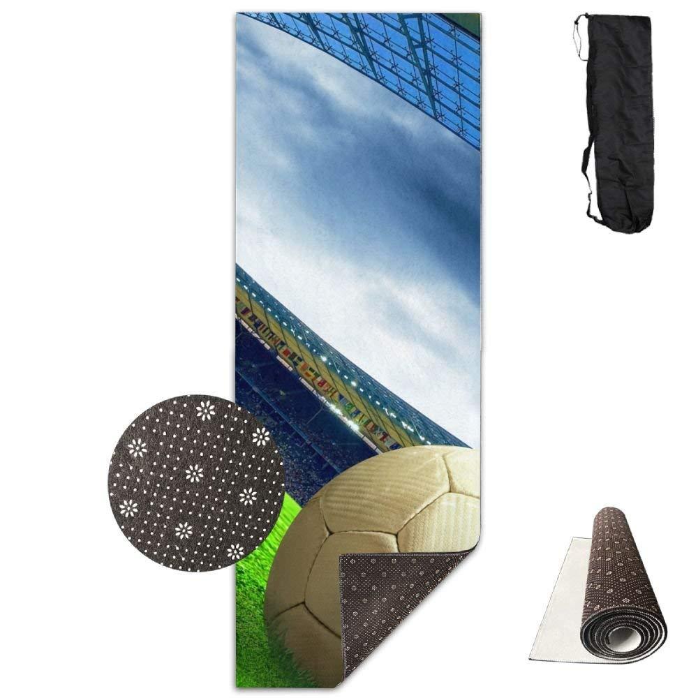 Football Field Stadium Deluxe,Yoga Mat Aerobic Exercise Pilates Anti-slip Gymnastics Mats