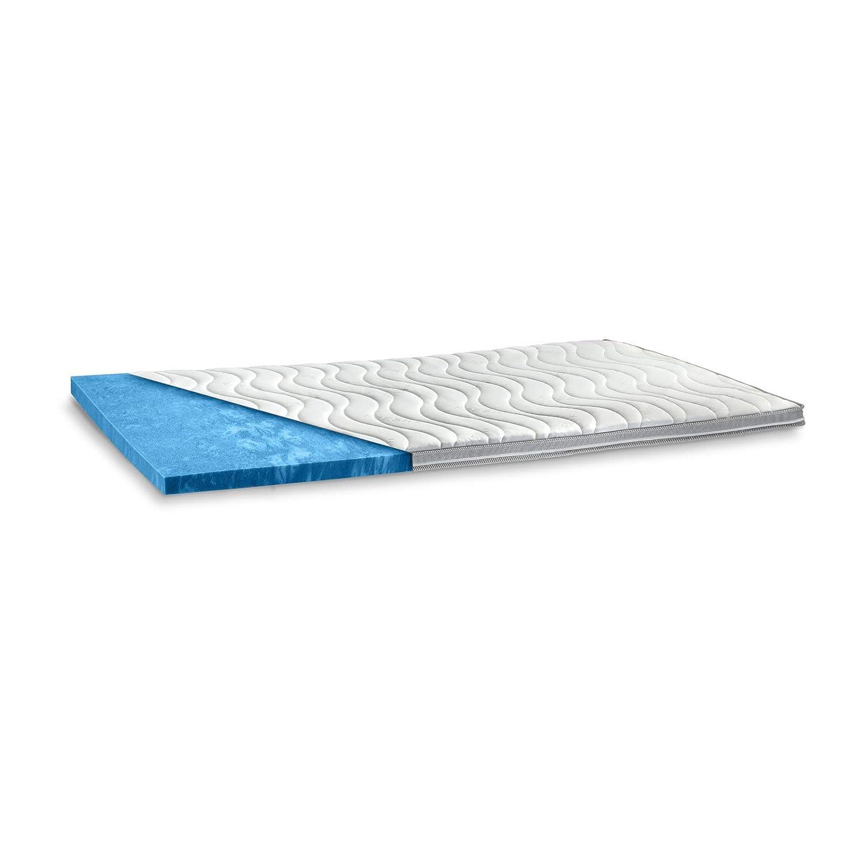 Gel Matratzen Topper wie Wasserbett weiche Gelschaum Auflage 9cm Gelauflage soft