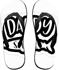 Towilliamsnya Black Funny Slippers Daddy Shark Stylish Slippers House Slippers for Women & Men