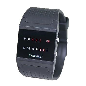Relojes binarios Chevirex, Hi-Tec purista de elegante diseño, modelo 2: Amazon.es: Hogar