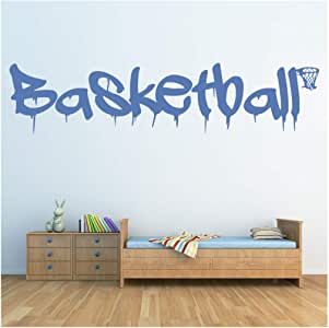azutura Basketball Sports Quote Wall Sticker Available in 5 Sizes and 25 Colours White
