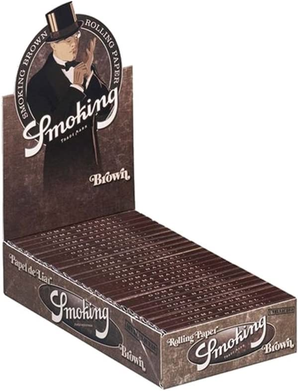 SMOKING Brown Regular rolling paper 50x60 sheets 1 FULL BOX total 3000 papers