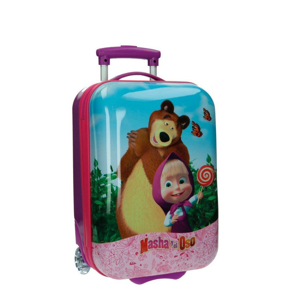 Masha 4731151 Kabinenkoffer und Der Bär Kindergepäck, 26 Liter, Rosa