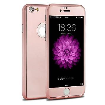 iphone 7 plus 360 case rose gold