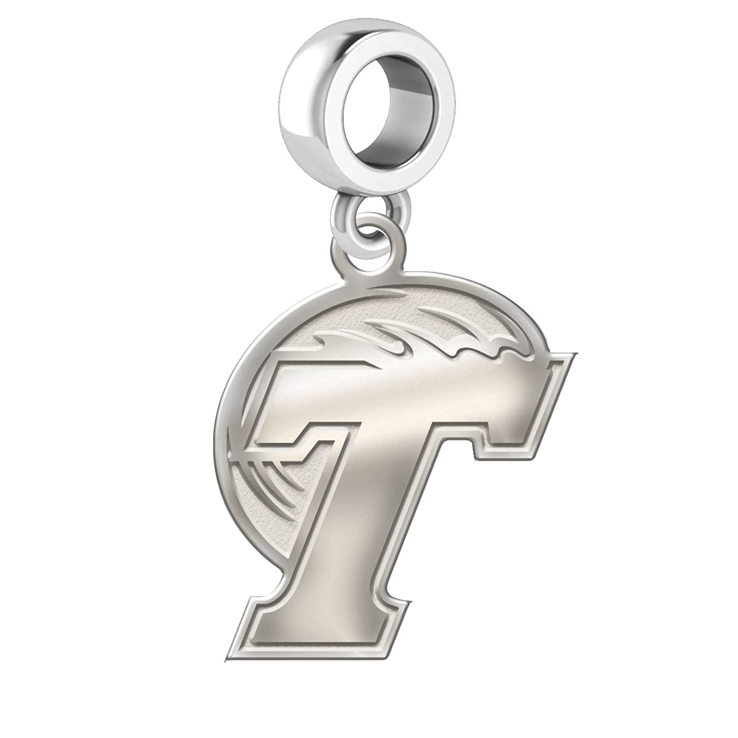 Home college tulane green wave tulane green wave silver plated - Amazon Com Tulane Green Wave Sterling Silver Natural Finish Logo Dangle Charm Fits All European Style Bracelets Jewelry