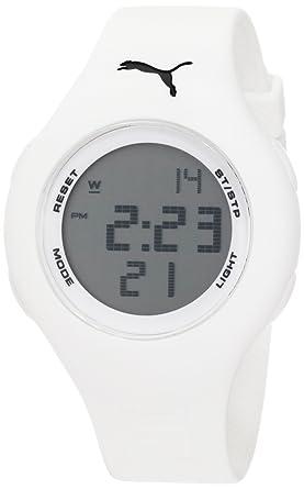 7d8f11e45d5f Amazon.com: PUMA Women's PU910912006 Loop Small Digital White Watch ...