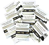 10 x 3-pack Hair Ties - Bride Tribe - Bachelorette and Wedding Shower Party Favors for Bridesmaids - 30 HAIR TIES IN TOTAL! (Black & Gold (Tribe))