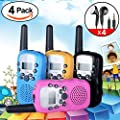 iGeeKid Kids Walkie Talkie with Earpiece and Speaker Mic Two Way Radio Long Range 22 Channel LED Flashlight for Girls Boys Marine Cruise Hiking Camping Travel Summer Outdoor Holiday Gifts from iGeeKid