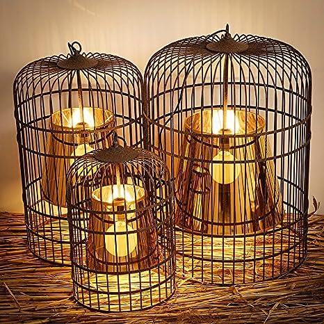 Ling @ Chinese Retro Antiguo schmiedeeisernen jaula con pájaro ...