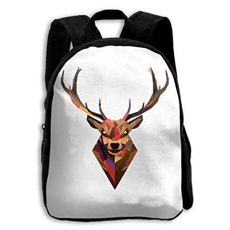 1bc3a6f73e5a Amazon.com: Ztlkpaoaz Minimal Deer Print Kids Backpack Toys Bag ...