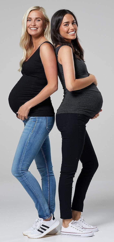 HAPPY MAMA Womens Maternity Sleeveless 2-Pack Nursing Tops 1069