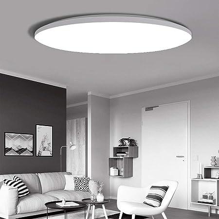 Qyyru LED Interior Exterior Redondo Circular Incrustado ultrafino 3cm.Luminaria de mampara montada en la pared con ribete blanco - for baño, techo, inodoro, jardín, cobertizo, porche, cocina, pasillo,: Amazon.es: Hogar