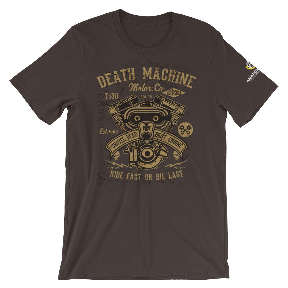 AnarchoCoffee Death Machine Motor Company Short-Sleeve T-Shirt Brown