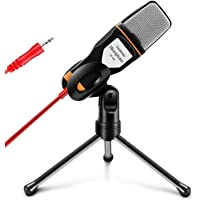 GROOZ Microfono Condensador Semiprofesional con Tripie Ideal para Podcast Gracabación de Videos en YouTube para PC…