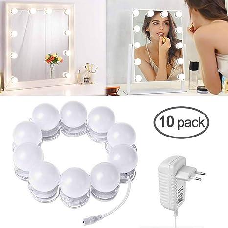 Ltpag De Maquillaje10 Luces Lámparasm Touch Dimmer Espejo Led Hollywood Luz Con Estilo 4 M 02 Tocador trdCxshQ