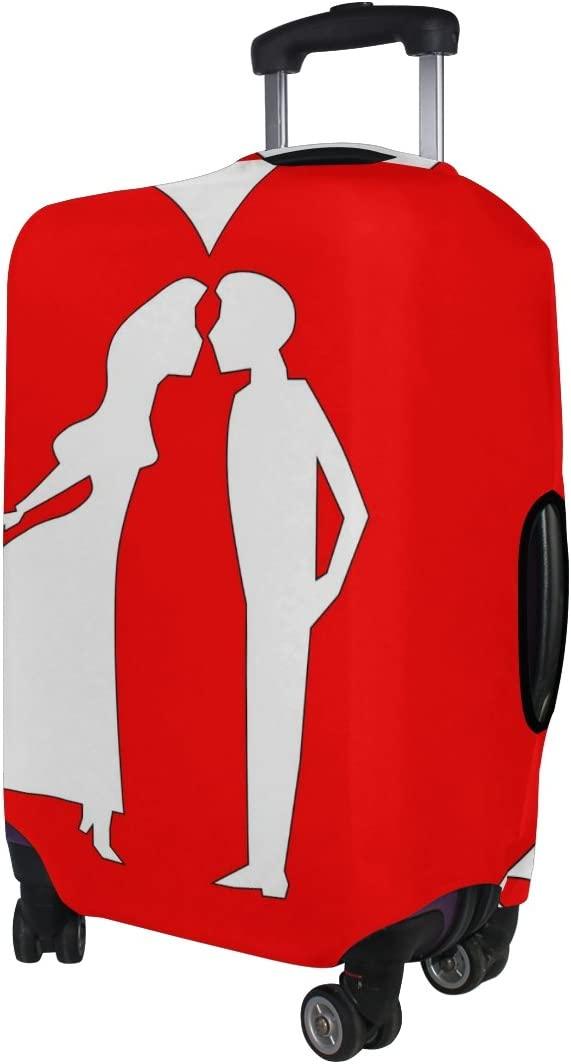 LEISISI Luggage protection cover Travel Suitcase covers Heart Love Print Design XL 31-32 inch