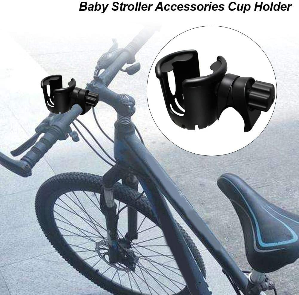 Bike Walker,Trolleys. Wheelchair 360 Degree Rotation Baby Stroller Cup Holder Bicycle Bottle Rack Pram Accessories for Stroller