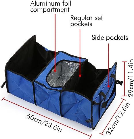 Caja de Almacenamiento Furgoneta para Coche para SUV Organizador Maletero Coche cami/ón 24 x 12.6 x 11.4in KKmoon Organizador Plegable de Carro Tronco