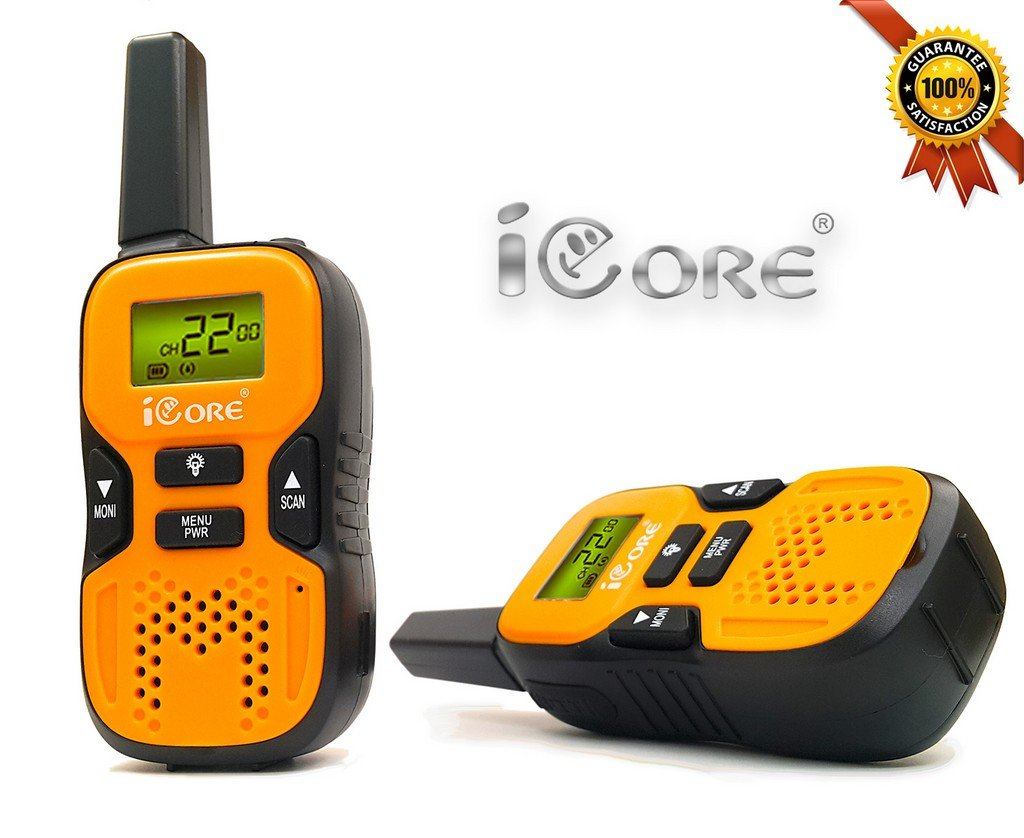 iCore Walkie Talkies for Kids, Long Range Walkie Talkie with 2 Way Radios (Pair), 22 Channel Walky Talk Rechargeable, Built-in Flash Light for Girls Boys Toys Age 6 7 Year Old Up (Orange) by iCore (Image #8)