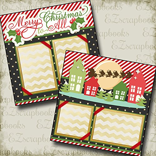 (MERRY CHRISTMAS TO ALL - Premade Scrapbook Pages - EZ Layout 2167)
