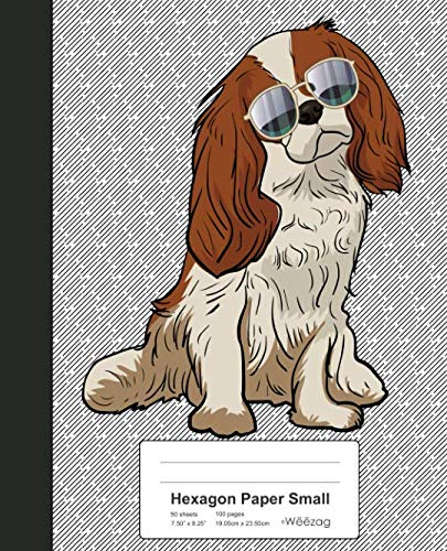 Hexagon Paper Small: Book Cavalier King Charles Spaniel Dog (Weezag Hexagon Paper Small Notebook)