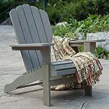 Belham Living Shoreline Wooden Adirondack Chair – Driftwood For Sale