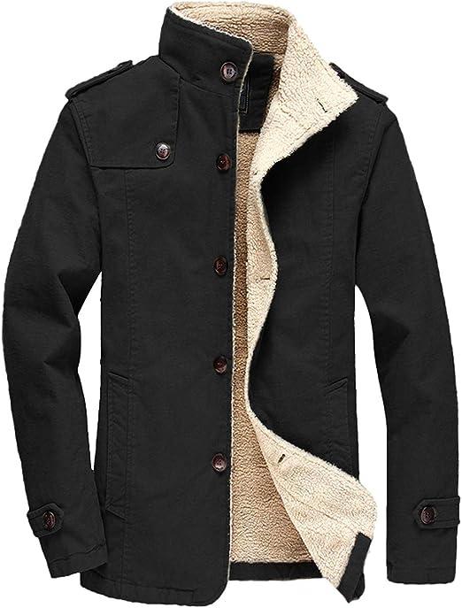 FTIMILD Men Sherpa Jackets Fleece Winter Warm Coats Lined Parka Thick  Outerwear at Amazon Men's Clothing store