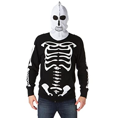 Volcom - Sudadera con Capucha Esqueleto Fear Slim Hood (L, Negro)