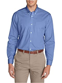 c649d54ce4 Eddie Bauer Men s Wrinkle-Free Classic FIt Pinpoint Oxford Shirt - Solid