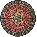Cotton Mandala Gypsy Beach Blanket- Printed Outdoor Beach Hippie Gypsy Boho Throw Towel, Tablecloth, Table Runner