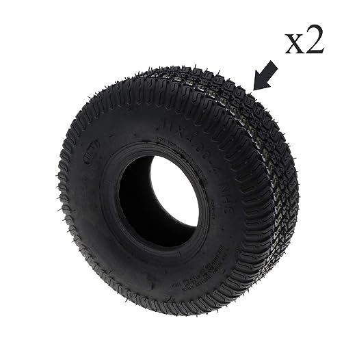 Par de neumáticos 4 capas 11 x 400- 4 para autoportée: Amazon.es ...