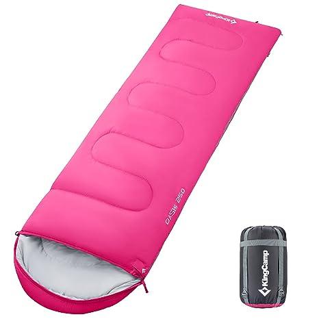 KingCamp Saco de dormir para adultos, portátil, ligero y cómodo, impermeable, con