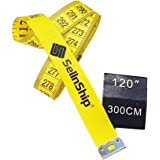 SellnShip 300cm Measuring Tailor's Soft Fiber-Glass Flexible Tape for Measurements,120inch Ruler Scale (Yellow, 1pc)
