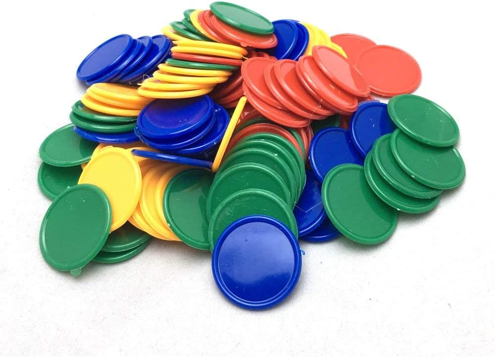 Game Tokens Youliang 100pcs 1 Plastic Chips Mixed Color Chips Game Currency Advertising Print Promotion Currency for Counting