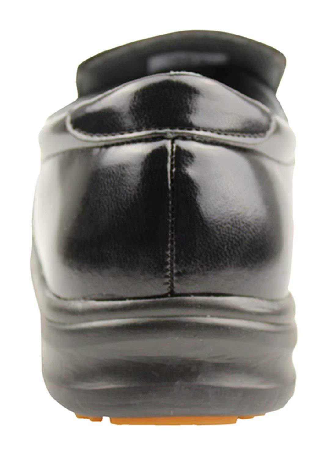 DDTX Men's Slip and Oil Resistant Slip-on Work Shoes Black (9.5)