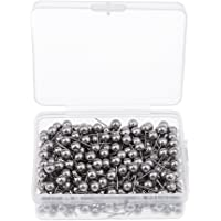 Prettyia 300 Pcs Marking Push Pins Metallic Color Thumbtack for Map Location Marking - Sliver