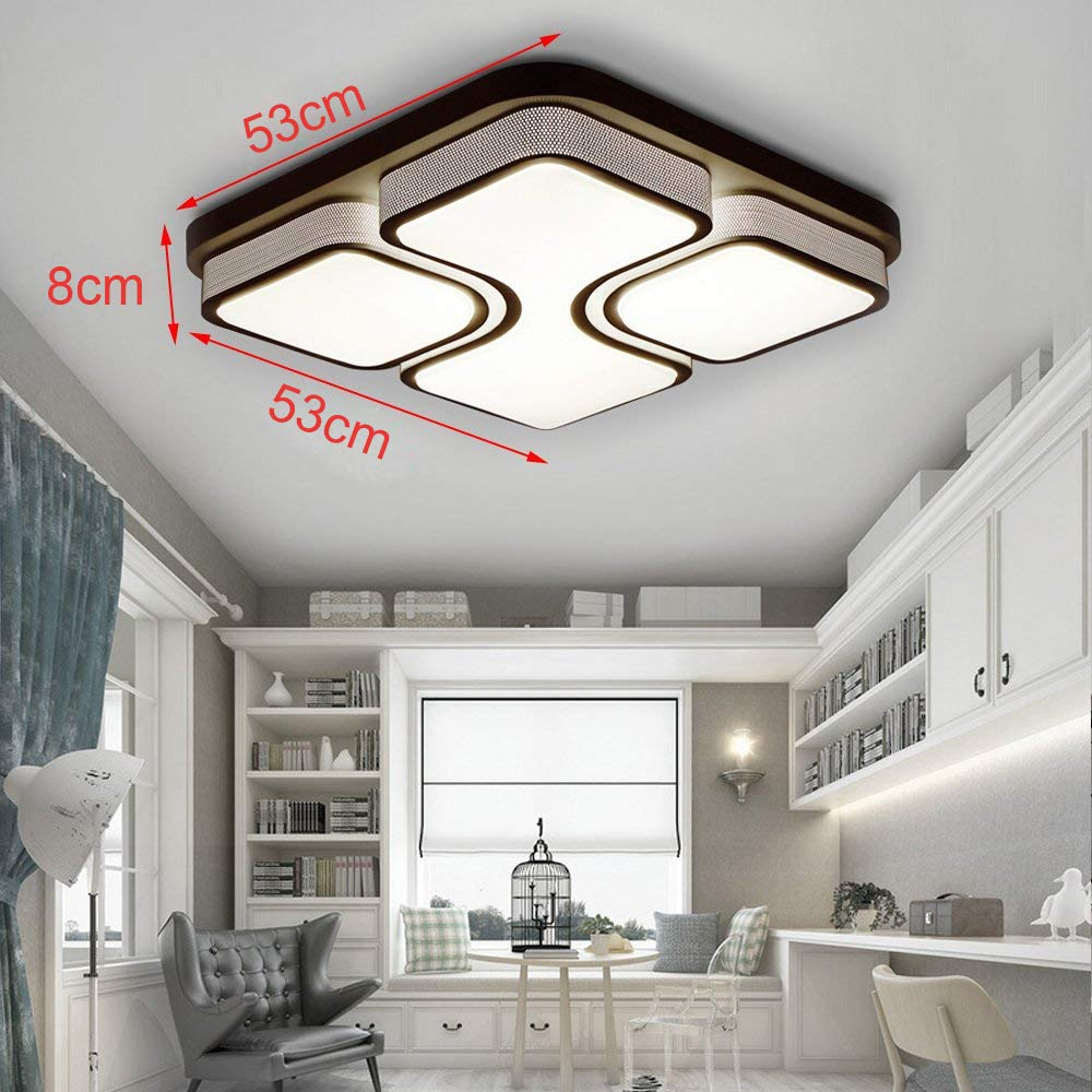 6000-6500K Classe /énerg/étique A++ 64W LED plafonnier plafonnier Panneau de moderne couloir salon salle de bain cuisine chambre cuisine /économies d/énergie Lumi/ère Applique murale Lampe Blanc Froid