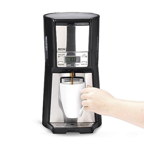 Cafetera de filtro de Beem 1410SR, 1030 W, función de filtro permanente, dispensador
