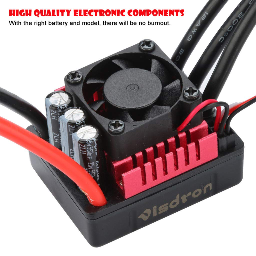 Electric machinery Clearance , ESC For Remote Control Cars RC Boats Multiple Protection by Little Story (D)