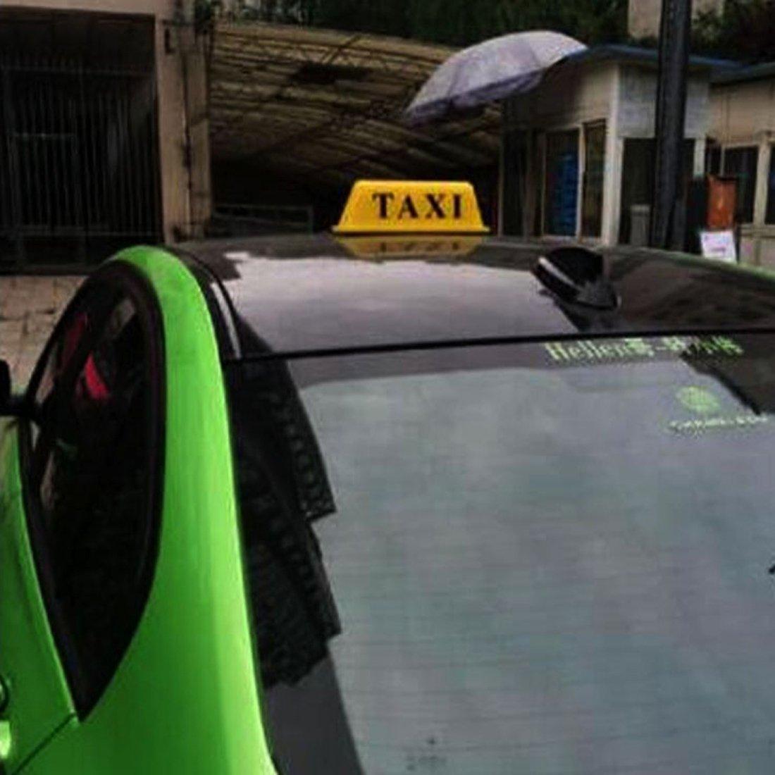 TAXI Tablero superior brillante Indicador de techo Indicador de luz Cabina Amarillo 12V,BINODA