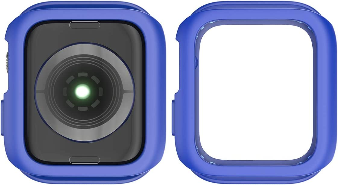 Blue Iwatch 4 44Mm Ocamo Practical for Iwatch 4 40Mm//44Mm TPU Bumper Case Cover Protector Shell Navy Blue