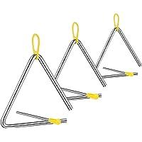 Instrumento Triángulo Music, 3 Piezas Triangulo Percusion Instrumentos, Triángulos para Instrumentos Percusión, 4/5/6…