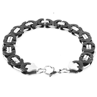 "13//16//19//21mm Polishing Silver Men/'s Stainless Steel Cuban Chain Bracelet 7-11/"""
