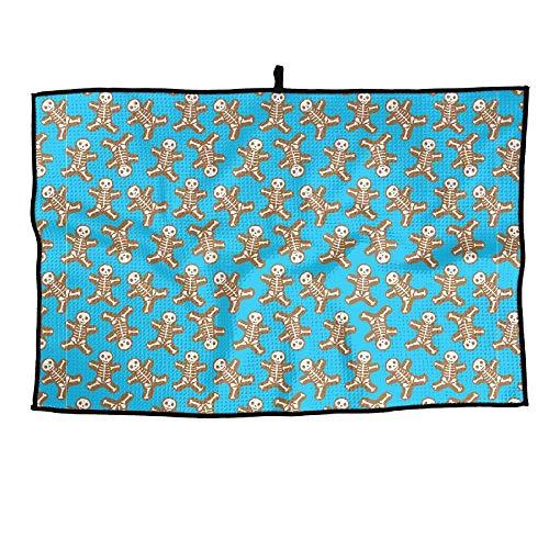 ElephantAN Cute Skull Skeleton Grid Microfiber Cooling Golf Towel Ice Sports Travel Towel Chilly Towel, Yoga, Fitness, ()