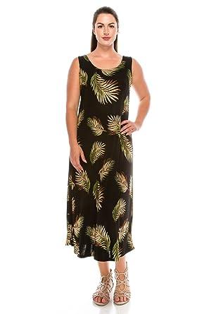 2092731a965 Jostar Women s Stretchy Long Tank Dress Print at Amazon Women s ...